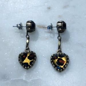 Betsey Johnson Leopard Print Earrings